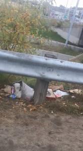 The mess panhandlers leave behind.
