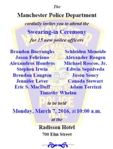 MPD: New officers to be sworn in
