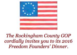 Rockingham County GOP 2016 Founders Dinner logo