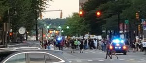 Black Lives Matter: Elm St. shut down