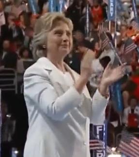 Clinton: Bright in white
