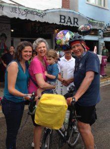 Lachance: Surprise welcome at the finish line