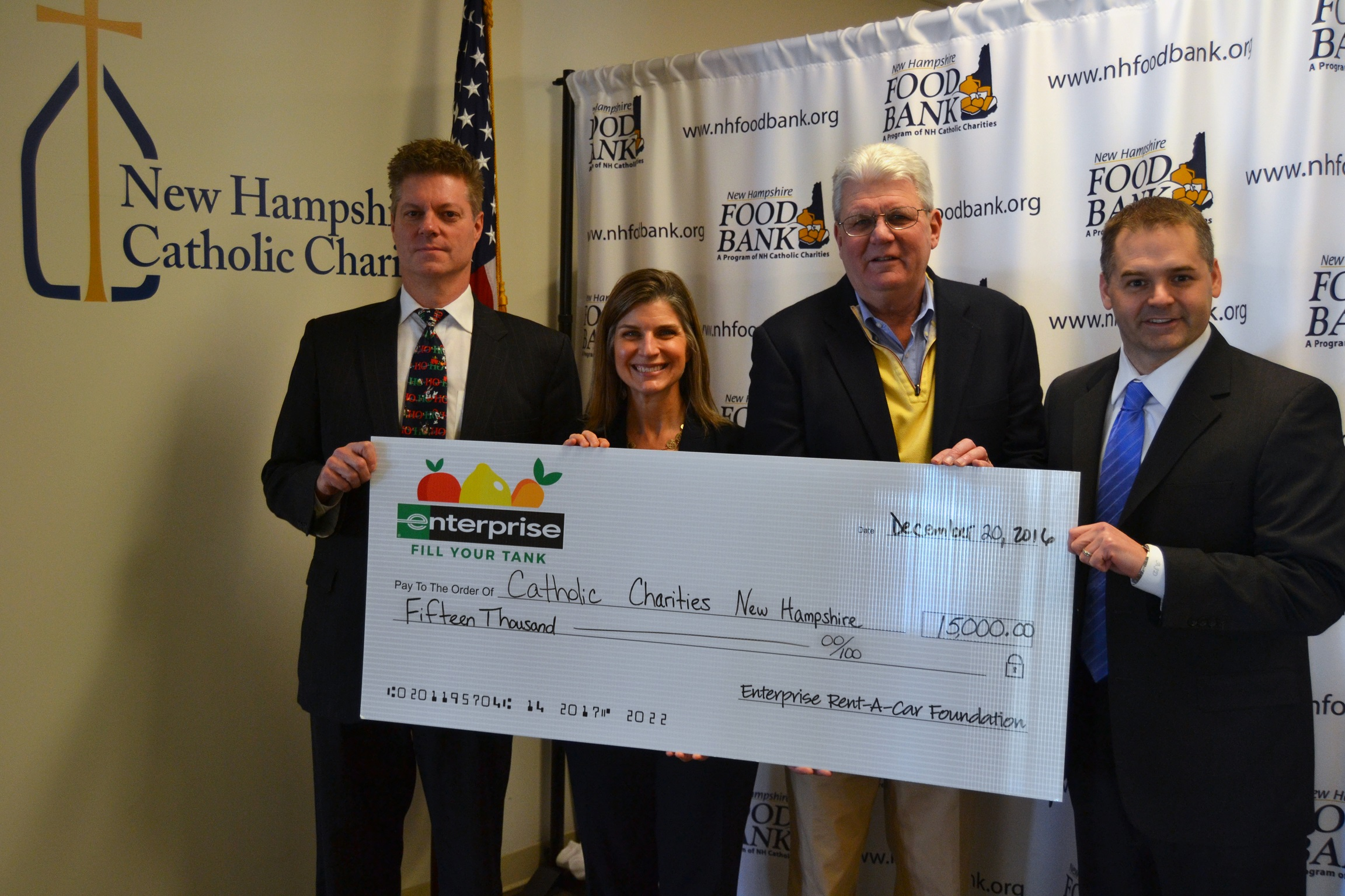 Enterprise Rent-A-Car Foundation Donates $15,000 to New Hampshire Food Bank